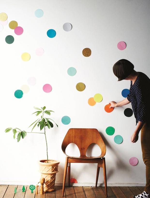 parede confete colorido