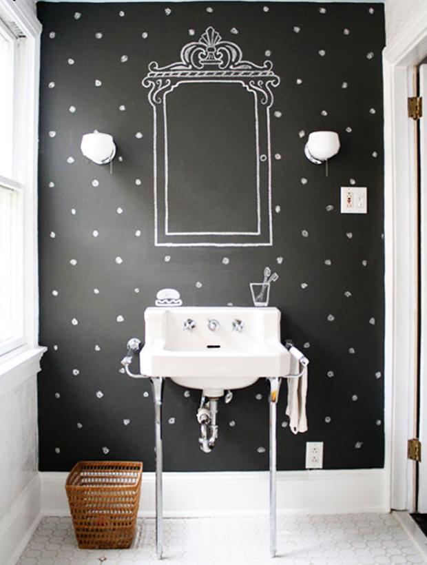 Desenhe as bolinhas na parede