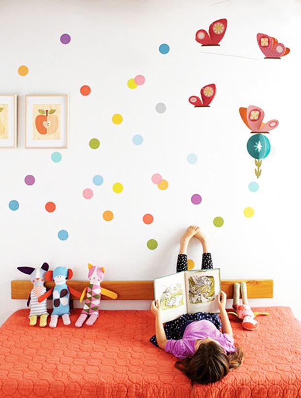 parede de confete colorido