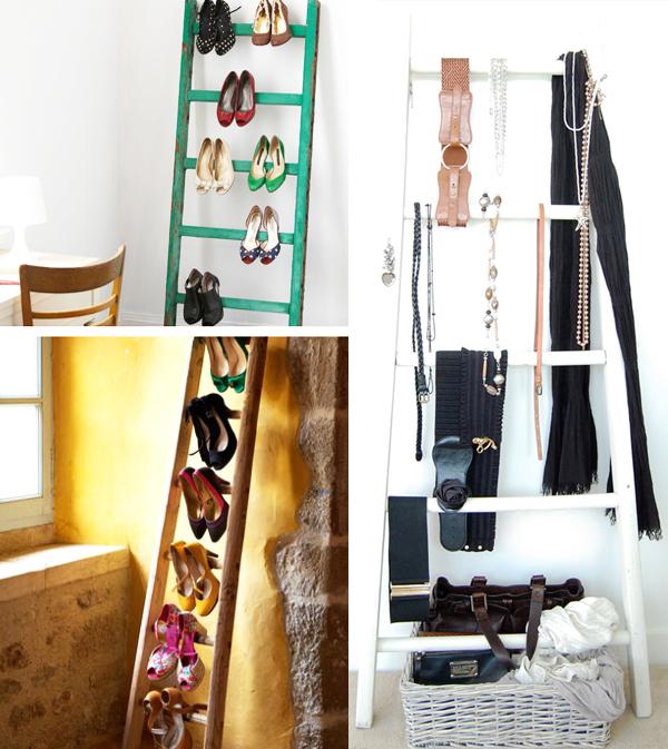 escada para pendurar sapatos e acessórios