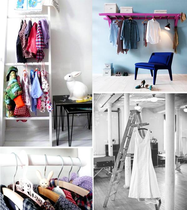 escada para pendurar roupas