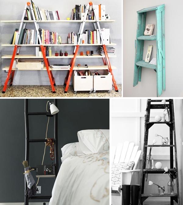 escada para estante na vertical