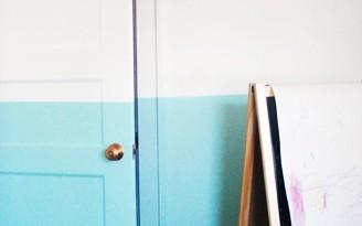 parede bicolor