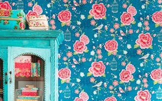 papel parede flores