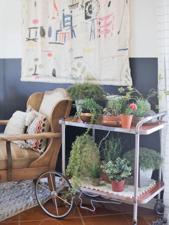 Jardim ou horta fácil para a casa