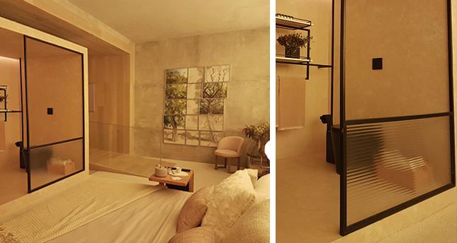 Divisória quarto/banheiro - Loft Romanov por Suite Arquitetos